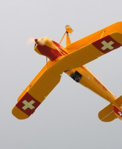 Buecker Biplane Flight near Zurich