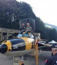 Famous Swiss astronaut Claude Nicollier is also among the Hawker Hunter pilots