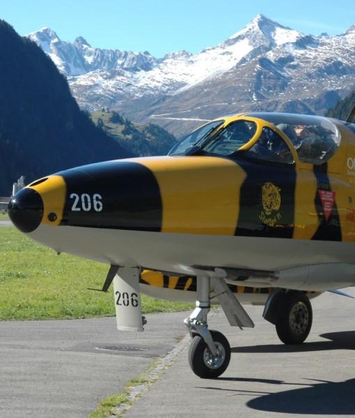 Hawker Hunter Flight Switzerland