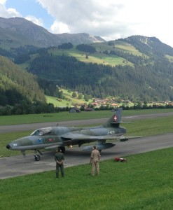 Hawker Hunter flight St. Stephan