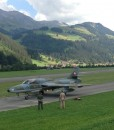 Hawker Hunter flight St. Stephan