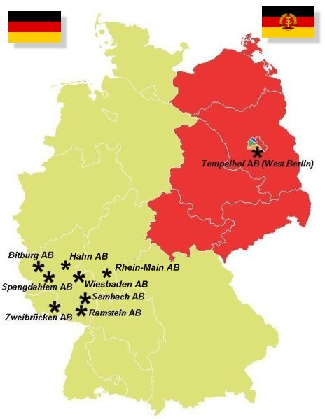 US Airbases in Germany